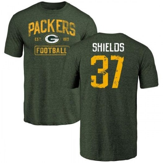Sam Shields Green Bay Packers Men's Green Distressed Name & Number Tri-Blend T-Shirt