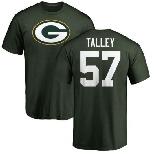 David Talley Green Bay Packers Men's Green Pro Line Any Name & Number Logo T-Shirt -