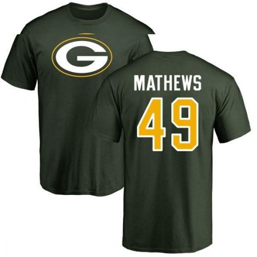 Derrick Mathews Green Bay Packers Men's Green Pro Line Any Name & Number Logo T-Shirt -