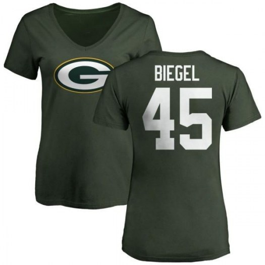 Vince Biegel Green Bay Packers Women's Green Pro Line Any Name & Number Logo Slim Fit T-Shirt -