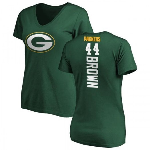 Donatello Brown Green Bay Packers Women's Green Pro Line Backer Slim Fit T-Shirt -